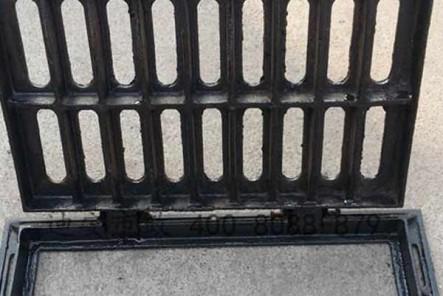 球墨铸铁篦子保证了行人的安全